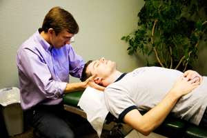 Chiropractic adjustment by Dr. Jacob