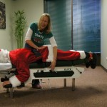 santa getting adjusted